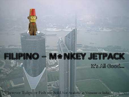 Filipino Monkey Jetpack